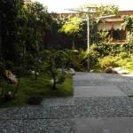 The garden off the PPR room at B&B Langeslag Hook of Holland.